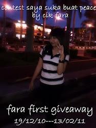 FARA FIRST GIVEAWAY!!!!!
