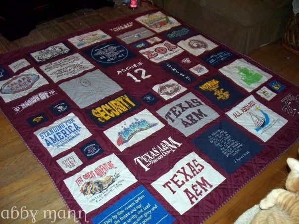 Crafts by Abby: Aggie T-shirt Quilt