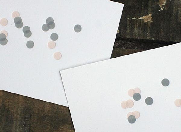 Tokketok - confetti cards
