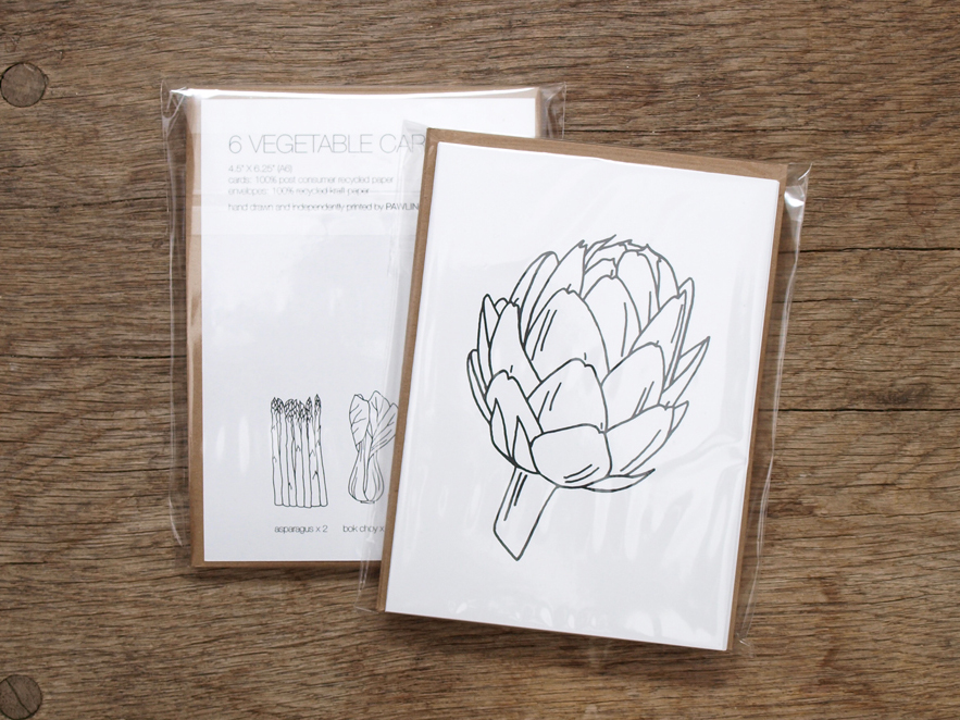 PAWLING | print studio - Vegetable Cards
