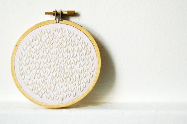 Merriweather Council - Snowball Hand Embroidery in 3 inch Hoop