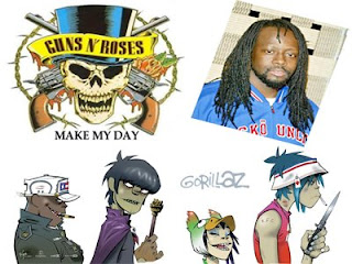 guns n roses, wyclef jean, gorillaz