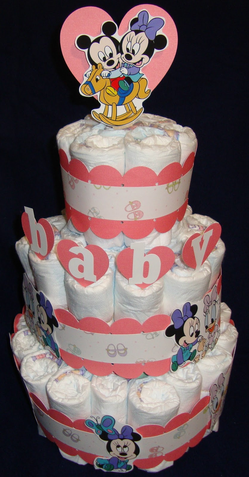 Glora's Crafts: Disney Diaper Cake with an Action Wobble