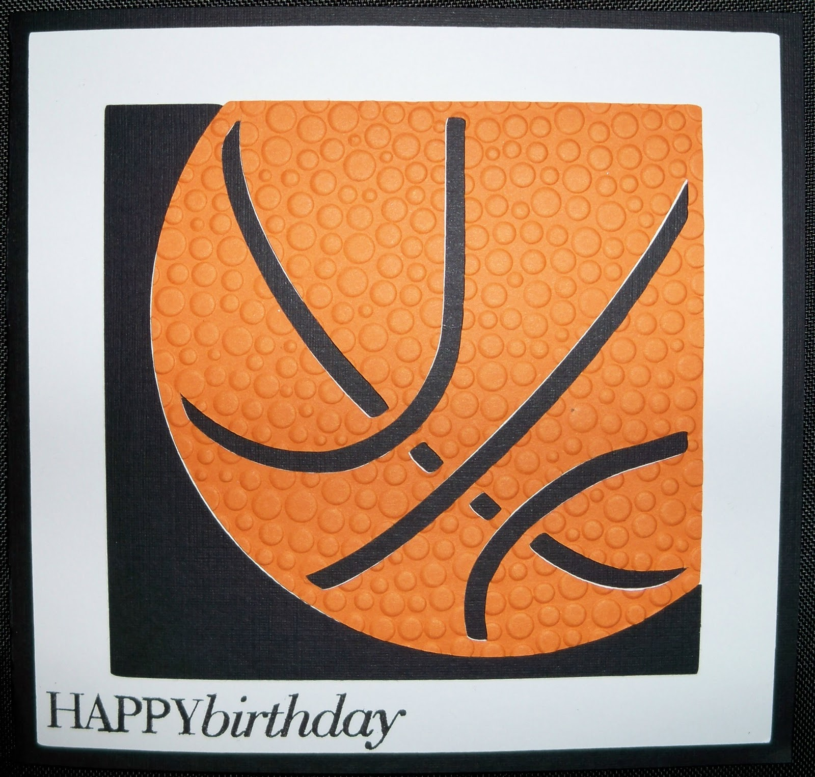 Gloras crafts simple basketball birthday card simple basketball birthday card bookmarktalkfo Image collections