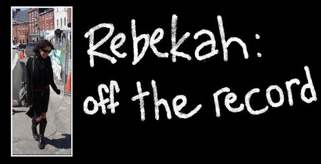 REBEKAH off the record
