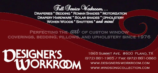 Designer's Workroom Custom Draperies, Bedding, & Window Coverings of Dallas Ft. Worth