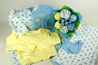 bed time baby clothes bouquet