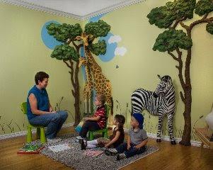 safari 3d mural