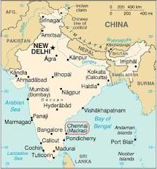 Kaart van India