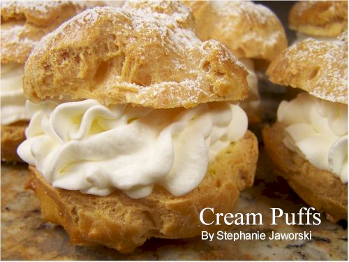 cream puffs begin with a baked puffed shell of choux pastry choux ...