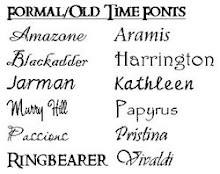 Formal/Old Time Fonts