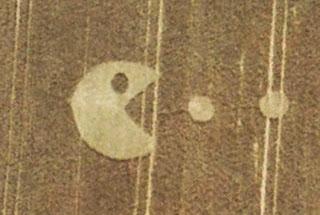 Pacman crop circle