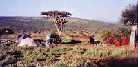 Camp neben Massai-Boma, bei Loliondo