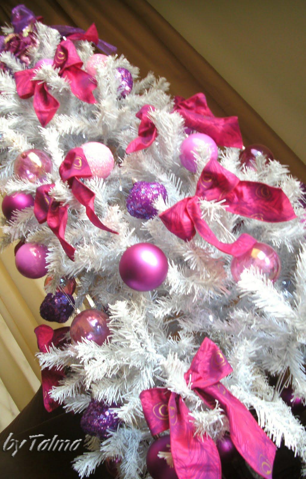 Talma – Decoração~ Decoracao Arvore De Natal Rosa