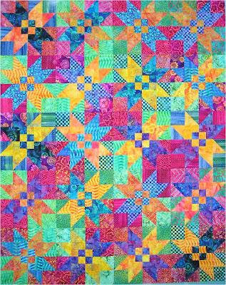 How to Quilt - Charm Batik Lap Quilt Pattern Tutorial