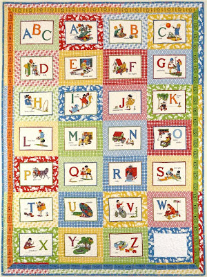 alphabet quilt blocks  at