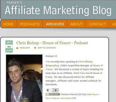 Chris Bishop speaks to Fraser Edwards at Affiliateblog.co.uk