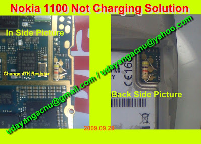 nokia 1100 2300 2600 not chrging