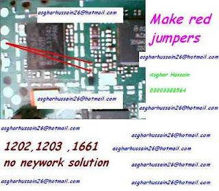 nokia 1202 1203 1661 1662 no network