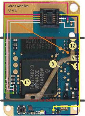 nokia 2610 LCD Display problem blank blue solution