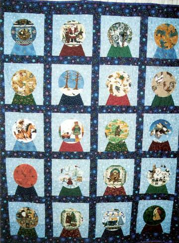 Barbara Brackman's MATERIAL CULTURE: Snow Globe Quilts : snow quilts - Adamdwight.com