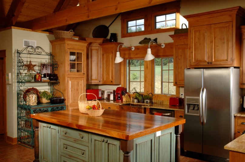Cherry Wood Cabinets Kitchen