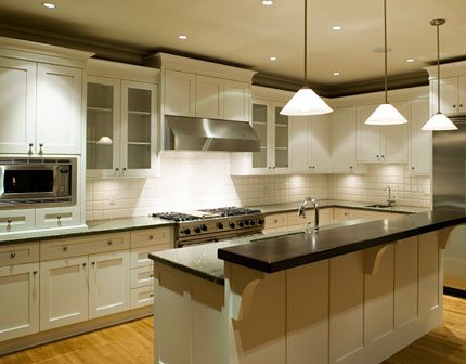 Point in Line: White Kitchen Cabinets Make