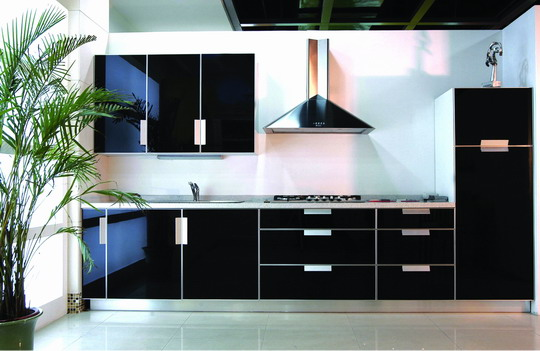 Cabinets for kitchen black kitchen cabinets for Black kitchen cabinets photos