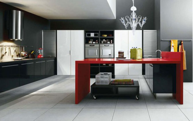 cabinets for kitchen modern kitchen cabinets black white red color