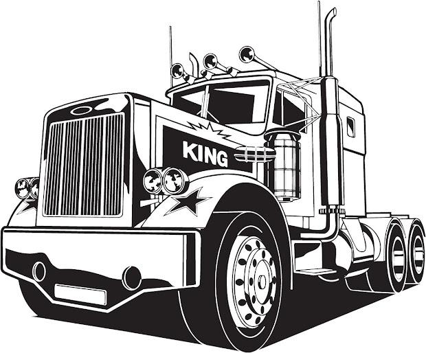 vectorian art truck lineart vectorfree