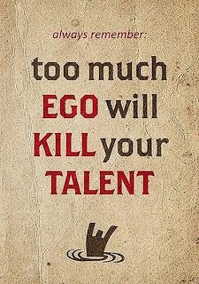 zbyt duże ego zabije twój talent
