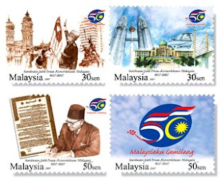 World Stamp Pictures - Independence of Malaysia Stamp