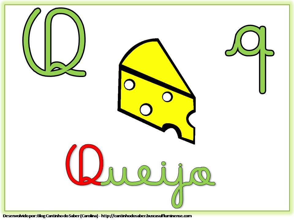 Alfabeto Colorido Letra Cursiva Para Imprimir Q