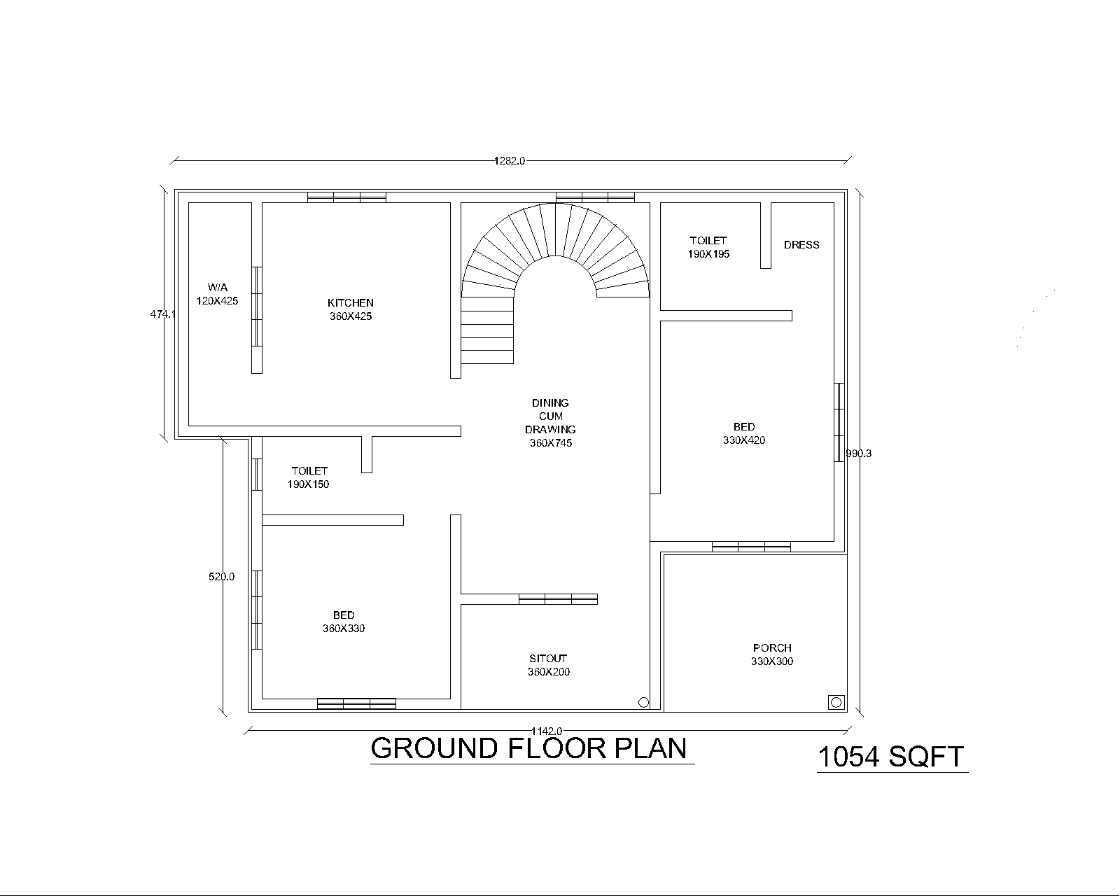 two bedroom house plans in