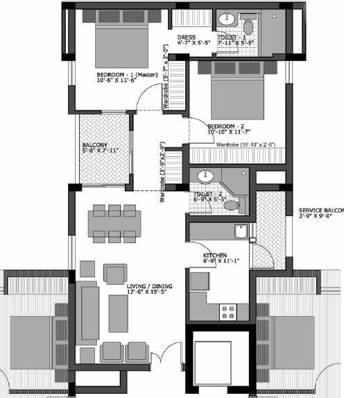 2 Bedroom House Plans, Bungalow Plans, Simple House Designs