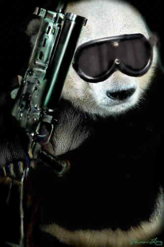 Tare panda tattoo covering up an unwanted birthmark.