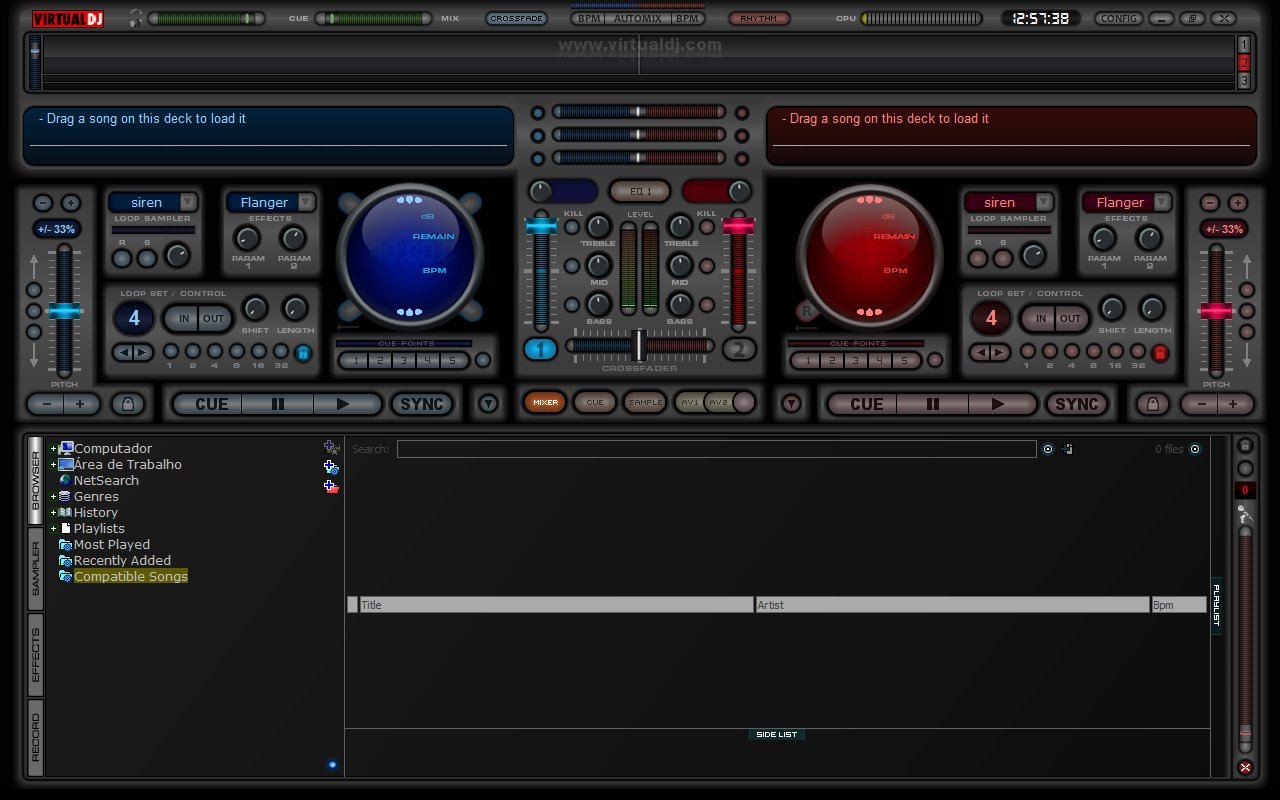 how to change skin on serato dj