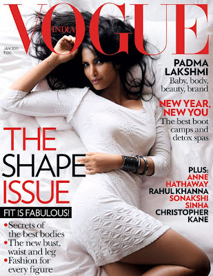 Padma Lakshmi Vogue India Jan 2011 issue