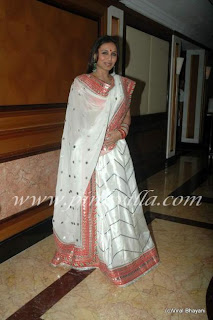 Rani Mukherjee in saree at Neelam Wedding reception