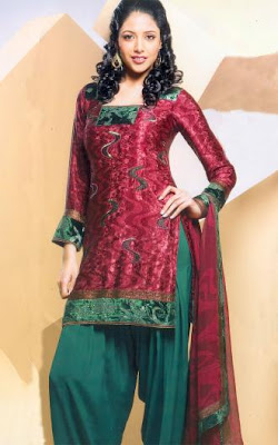 Hairstyles For Short Hair On Salwar Suits : ... Salwar Kameez Neck Designs 2013 Collection 04 Short Hairstyle 2013