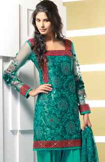 Net and faux crepe salwar kameez punjabi dress 2011 for Dress dizain photo