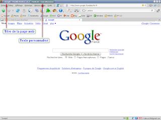 Firefox - Personnaliser la barre de titre