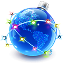 image de Noël : le monde en boule de noël