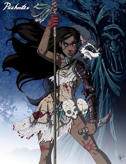 Pocahontas sangrienta, pocahontas terror, pocahontas oscura