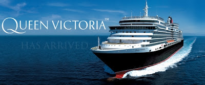 """Queen Victoria"" cruise liner at sea"