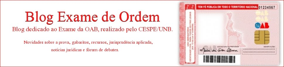 Blog Exame de Ordem