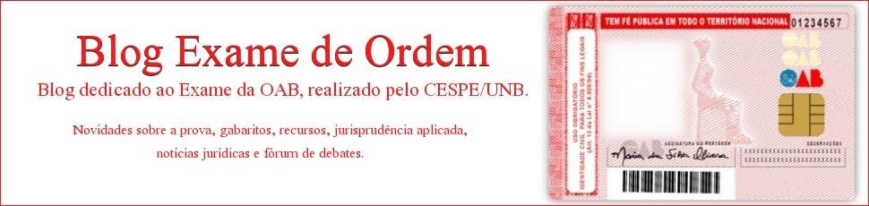 Blog Exame de Ordem