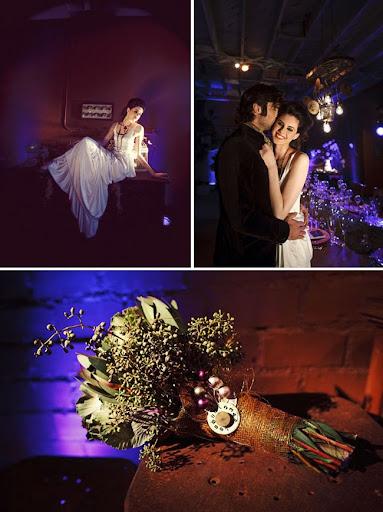 steam punk meets anthropologie wedding decoration