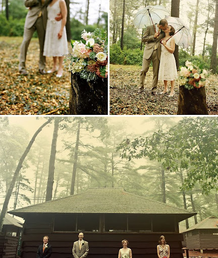 camp wedding photos