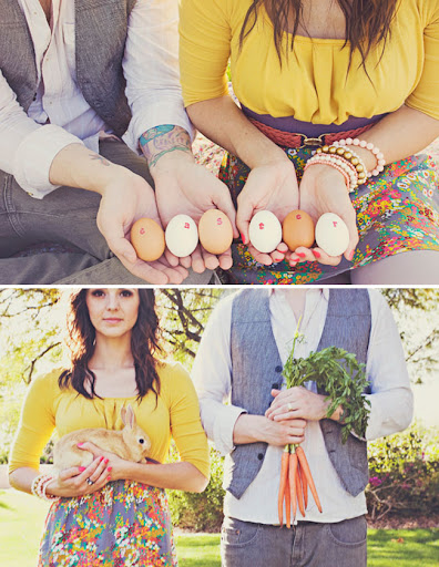 easter themed engagement photos